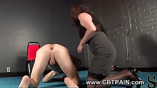 Femdom puppy play and anal insertion