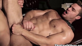 Musculed chunk love to fuck nigh the office